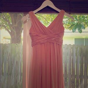 David's Bridal Junior bridesmaid dress.